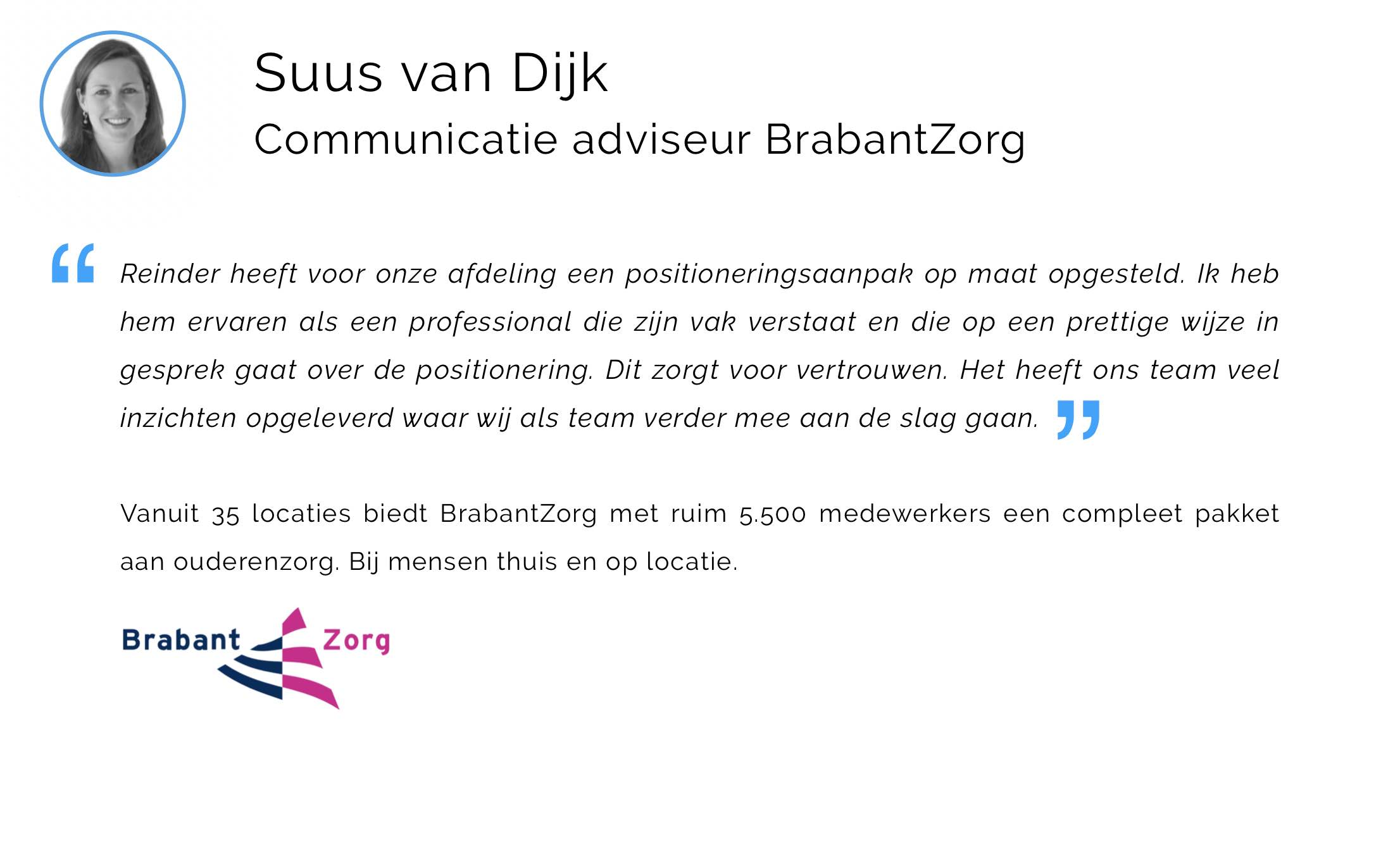 Referentie incompany leergang afdeling communicatie positioneren